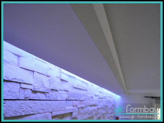 Lichtvoute mit Schattenfuge aus Gipskarton