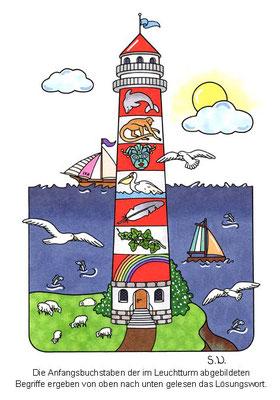 Worträtsel in einem Leuchtturm, Bilderrätsel