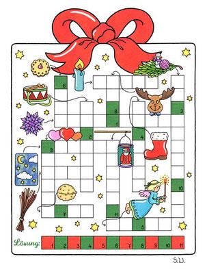 Weihnachtsrätsel, Kreuzworträtsel, Bilderrätsel