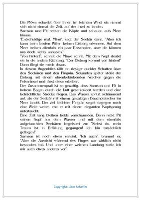Pit träumt vom Fliegen, Eine Wintergeschichte für Kinder mit einem Pinguin, Seite 2