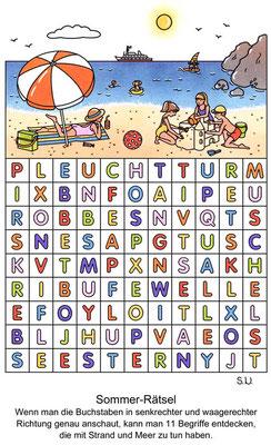 Buchstabenrätsel Sommer, Bilderrätsel