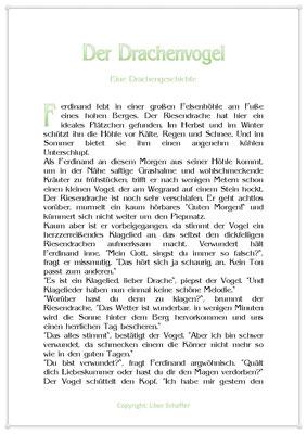 Der Drachenvogel, Eine Drachengeschichte für Kinder, Seite 1