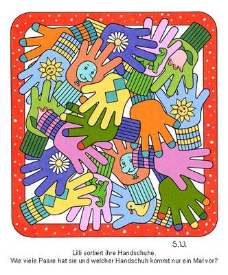 Suchbild, Handschuhe, Bilderrätsel