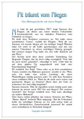 Pit träumt vom Fliegen, Eine Wintergeschichte für Kinder mit einem Pinguin, Seite 1