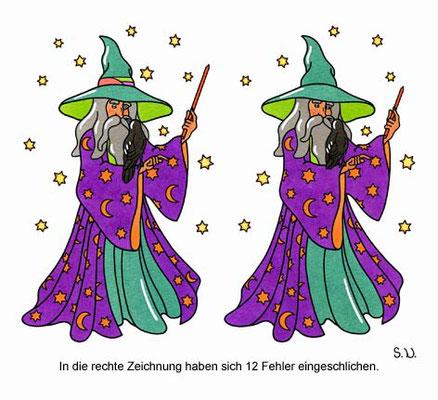 Fehlersuchbild, Zauberer, Bilderrätsel