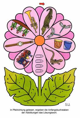 Bilderrätsel in einer Blume