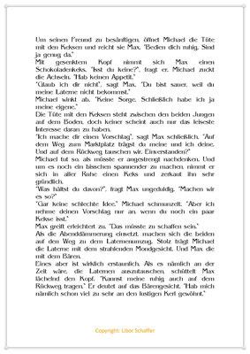 Max leiht seine Laterne nur ungern aus, Eine Geschichte für Kinder zum Martinstag, Seite 2