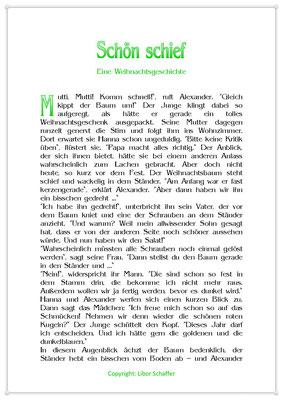 Schön schief, Eine Weihnachtsgeschichte für Kinder, Seite 1