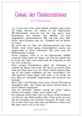 Oskar, der Meisterzeichner, Eine Ostergeschichte für Kinder, Seite 1