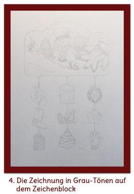 Grafitzeichnung auf Zeichenblock