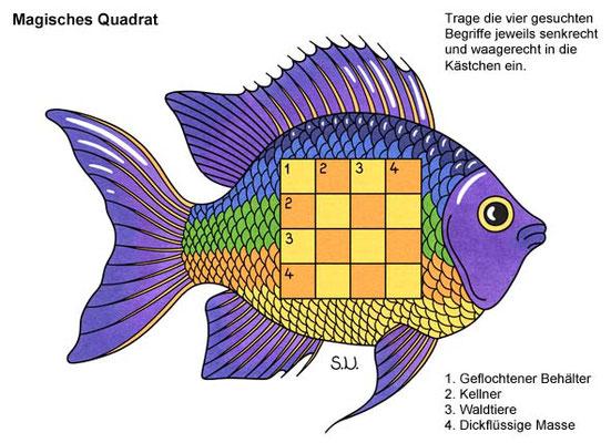 Magisches Quadrat in einem Fisch, Bilderrätsel
