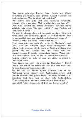 Kasimir jagt den Gänsen Angst ein, Eine Geschichte für Kinder zum Martinstag, Seite 2