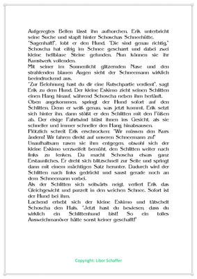 Schoscha ist wirklich ein Schlittenhund, Eine Wintergeschichte für Kinder, Seite 2