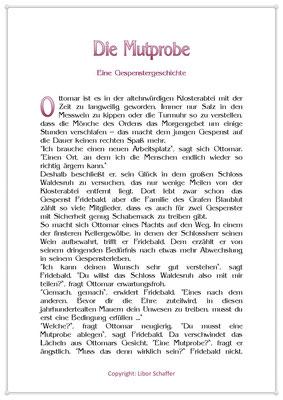 Die Mutprobe, Eine Gespenstergeschichte, Seite 1