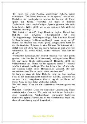 Hubertas Schuss geht nach hinten los, Eine Kindergeschichte zur Walpurgisnacht, Seite 2
