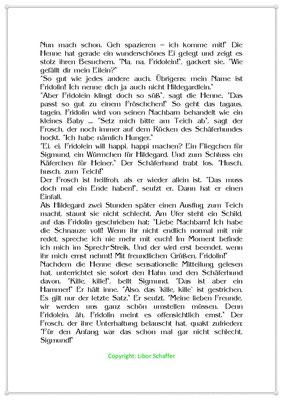Fridolin will endlich ernst genommen werden, Eine Tiergeschichte mit einem Frosch, Seite 2