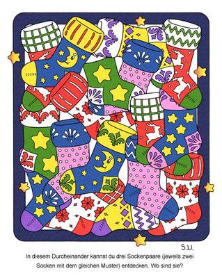 Weihnachtsrätsel, Socken, Bilderrätsel