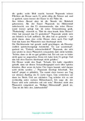 Der Verwandlungskünstler, Eine Kindergeschichte mit einer Henne, Seite 2