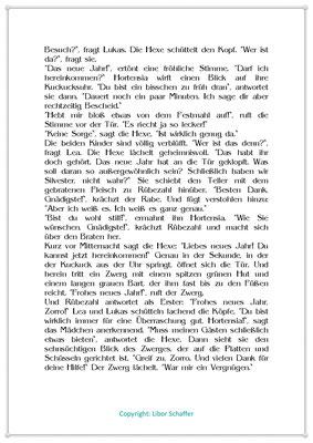 Das neue Jahr klopft an die Tür, Eine Silvestergeschichte für Kinder mit einer Hexe, Seite 2