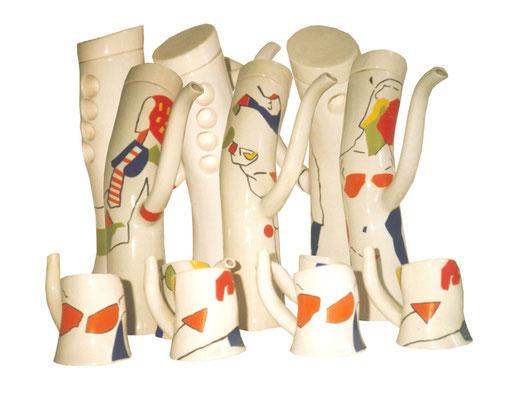 "KunstARTIKEL: ""Porzellanservice"" Produkt/Hochschulprojekt 1990"