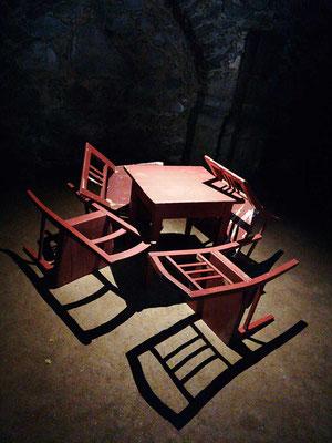 """KunstBEGEGNUNG: """"Setzen wir uns an einen Tisch"""" Pop-Up Installation 2019"""