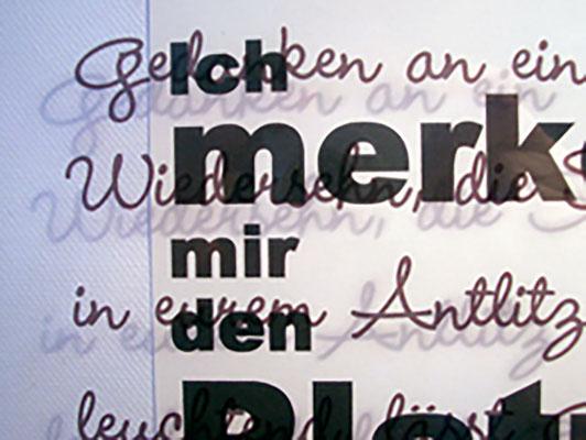 """KunstBEGEGNUNG: """"Nur die Liebe ist's die mich retten kann"""" Bild/Serie 2008"""