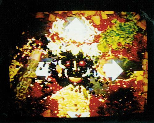 """KunstBEGEGNUNG: """"meal"""" Media Eat Art Language 1998"""