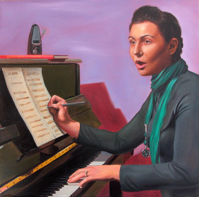 """""""Silvia"""" - 2011 - olio su tela – 60 x 60 cm. - collezione privata"""