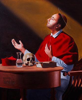 """""""San Carlo Borromeo"""" - 2016 - Oil on linen - 100 x 80 cm. - Private collection"""