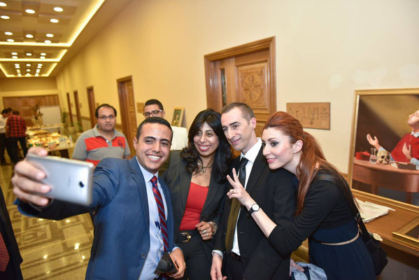 Selfie with Egyptian friends, Alexandria