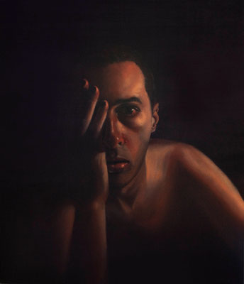 """Admiror"" - 2009 - oil on canvas - 70x60 cm. - private collection"