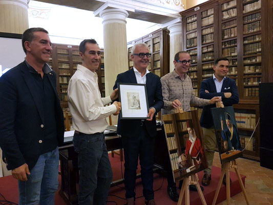 Delivering of paintings and etchings to the Major of Macerata