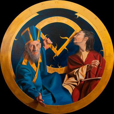 """""""Auditio"""" - 2010 - olio su tavola di pioppo – 120 cm."""