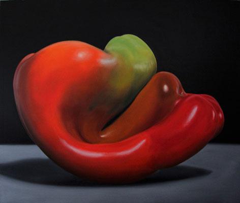 """Peperone"" - 2012 - olio su tela – 120 x 100 cm."