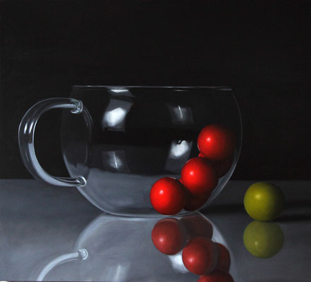 """""""Curiosi"""" - 2012 - olio su tela - 90 x 100 cm."""