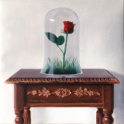 """""""Piccola Principessa"""" - 2016 - Olio su lino - 35 x 35 cm. - Collezione privata"""