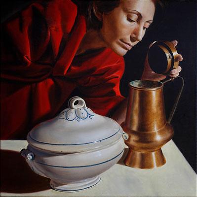 """""""Profumi"""" - 2010 - olio su tela – 60 x 60 cm. - collezione privata"""