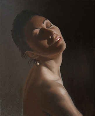 """Danae"" - 2013 - olio su tela (oil on canvas) - 50 x 40 cm."
