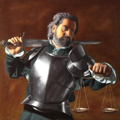 """""""Giustizia"""" - 2011 - olio su tela – 80 x 80 cm."""