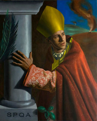 """Sant'Emidio"" - 2010 - oil on canvas – 100 x 80 cm. - private collection"