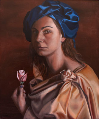 """Artemisia"" - 2009 - oil on canvas – 70 x 60 cm."
