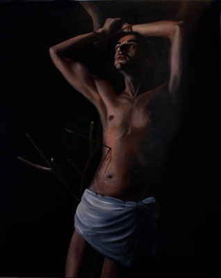 """San Sebastiano"" - 2009 - Olio su tela – 100x80 cm."