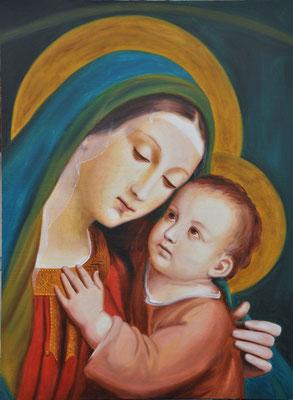 """""""Madonna del Buon Consiglio"""" - 2011 - oil on poplar board – 40 x 65 cm. - S. Maria del Buon Consiglio Church, Ascoli Piceno"""