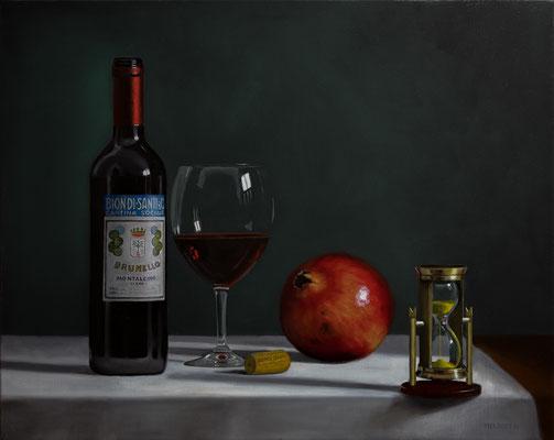 """""""La ricchezza del tempo"""" - oil on linen - 50 x 70 cm"""