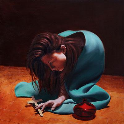 """""""Maddalena penitente"""" - 2015 - olio su tela - 70 x 70 cm."""