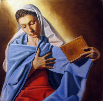 """""""Vergine Annunciata"""" - 2010 - olio su tela – 50 x 50 cm. - collezione privata"""