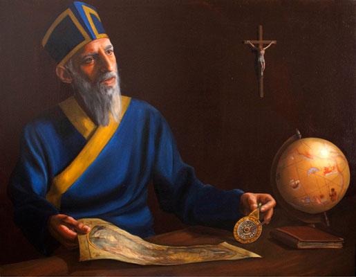 """Padre Matteo Ricci"" - 2009 - Olio su tela – 100x80 cm."