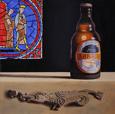 """Abbadia"" - 2015 - olio su cartoncino – 42 x 42 cm."