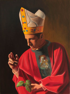 """Sant'Emidio benedicente"" - 2011 - oil on canvas – 40 x 30 cm. - private collection"