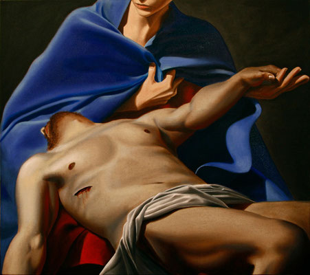 """Pietà"" - 2013 - oil on canvas – 90 x 80 cm."